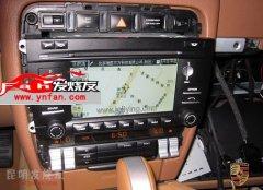 昆明发烧友汽车音响改装:卡宴-09款原车屏升级导航,倒车影像