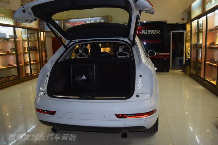 昆明奥迪Q3汽车音响改装丹拿和芬朗系统,昆明发烧友汽车音响