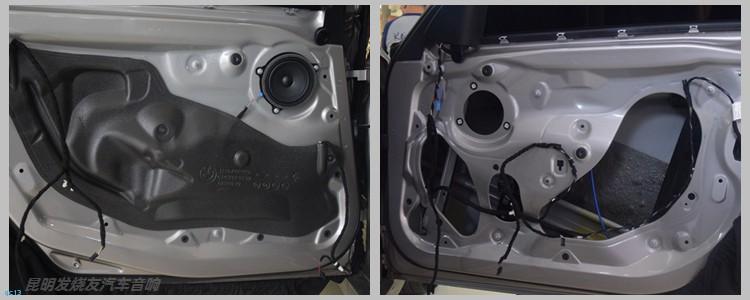 超凡脱俗的音质,昆明宝马320Li汽车音响改装,昆明发烧友改装