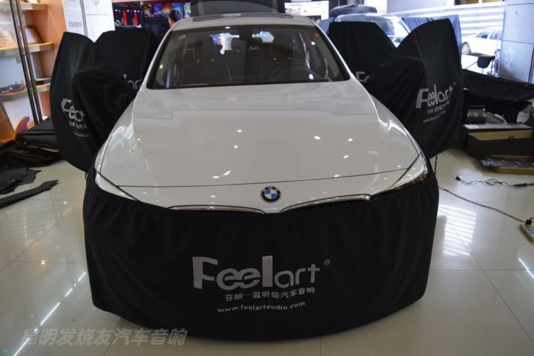 宝马GT320汽车音响升级绅士宝RX6.3三分频系统,昆明发烧友改装