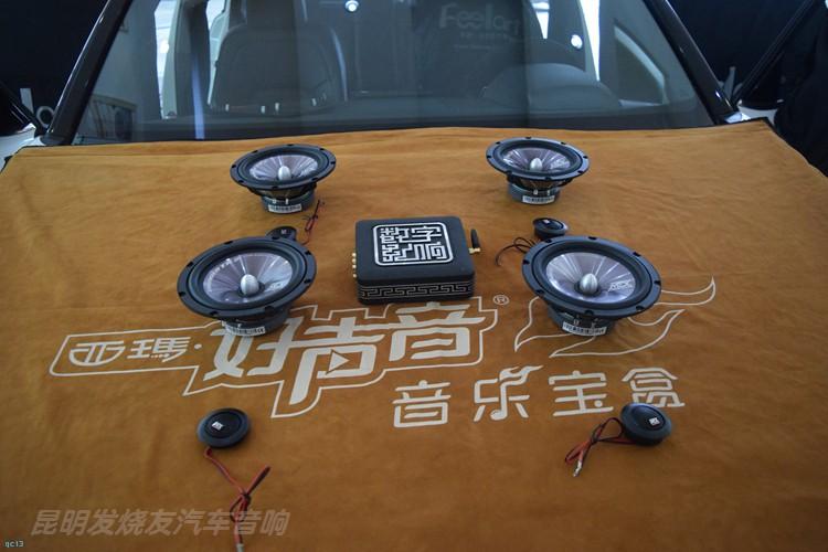 本田URV汽车音响升级两套喇叭,昆明发烧友汽车音响