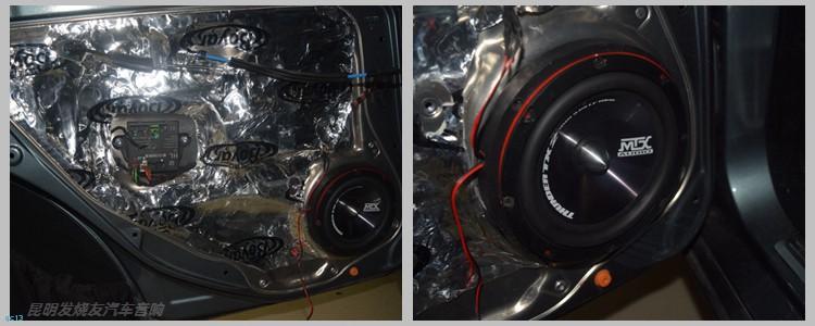 奔驰C200汽车音响升级丹拿喇叭,昆明发烧友汽车音响