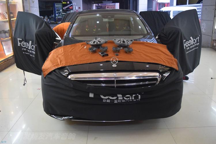 昆明发烧友汽车音响:奔驰E200音响升级丹拿奔驰专用喇叭