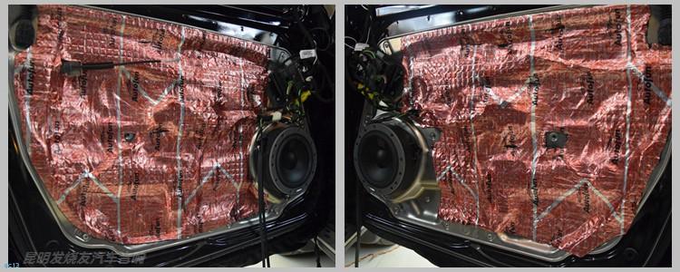 昆明发烧友汽车音响:奔驰GLK300汽车音响升级丹拿系统
