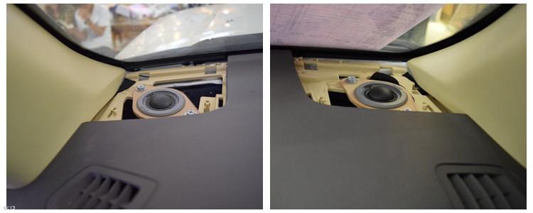 昆明丰田汉兰达音响改装丹拿喇叭和DSP,昆明发烧友汽车音响