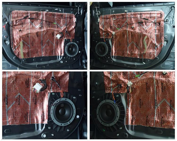 昆明发烧友汽车音响:丰田汉兰达汽车音响改装丹拿喇叭和DSP