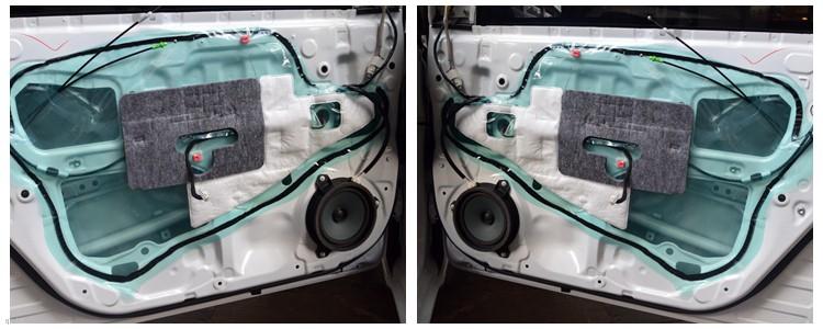 昆明发烧友:昆明丰田卡罗拉汽车音响改装一套喇叭,音质不错!