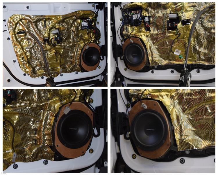昆明吉普指挥官音响改装英国CV AS6.2和超薄低音,昆明发烧友