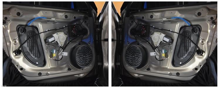 昆明发烧友汽车音响改装:雷克萨斯IS300改装丹拿272二分频喇叭