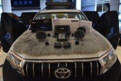 丰田普拉多音响改装丹拿喇叭、西玛DSP和超薄低音,昆明发烧友汽车音响