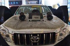 丰田普拉多汽车隔音降噪,改装两套喇叭和DSP,昆明发烧友