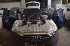 奥迪A3汽车音响改装英国CV AS6.2喇叭DSP和备胎低音,昆明发烧友
