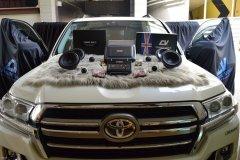 丰田陆巡汽车音响升级英国CV RS6.2喇叭和超薄低音,昆明发烧友汽车音响