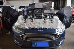 蒙迪欧汽车音响改装英国CV喇叭、DSP和超薄低音,昆明发烧友
