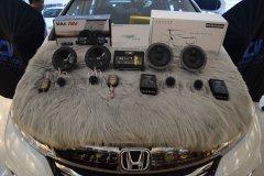 本田奥德赛音响改装丹拿232套装喇叭和西玛DSP,昆明发烧友汽车音响