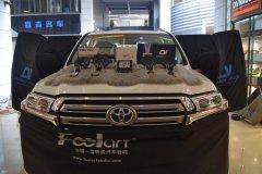 丰田兰德酷路泽汽车音响改装两套喇叭和DSP,昆明发烧友汽车音响