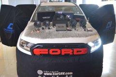 福特撼路者汽车音响改装英国CV RS6.3三分频汽车音响,昆明发烧友