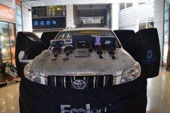 丰田普拉多汽车音响改装三分频喇叭,昆明发烧友汽车音响