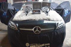 奔驰C260L汽车音响改装丹拿专用喇叭,昆明发烧友汽车音响改装