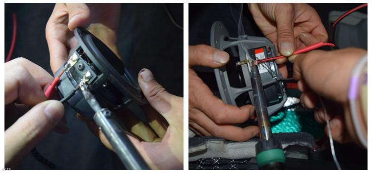 喇叭安装,线材焊接处理