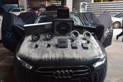 奥迪A6汽车音响改装丹拿喇叭和DSP,昆明发烧友汽车音响