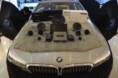 宝马530li汽车音响改装丹拿三分频音响,昆明发烧友汽车音响改装
