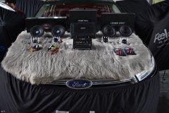福特锐界汽车音响改装英国CV AS6.2喇叭,昆明发烧友汽车音响