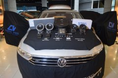 大众迈腾音响改装丹拿音响和MBQ备胎低音,昆明发烧友汽车音响