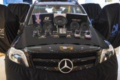 奔驰GLK400汽车音响改装英国CV音响系统,昆明发烧友汽车音响
