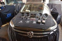 大众途观汽车音响改装丹拿音响系统,昆明发烧友汽车音响