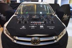 丰田汉兰达汽车音响改装,两套喇叭和DSP,昆明发烧友汽车音响